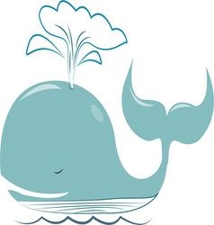 Spouting Whale vector