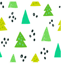 spruces seamless pattern vector image