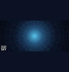 Starry night sky background vector
