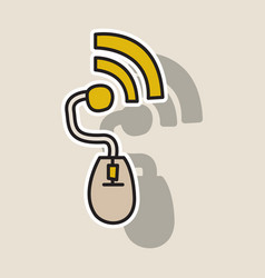 sticker unusual look wifi signal vector image