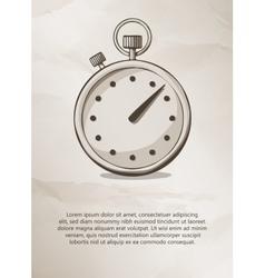 Stopwatch Vintage Label Logo Frame Brochures vector image