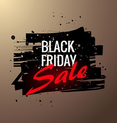 stylish black friday sale label in grunge style vector image