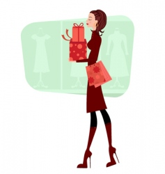 successful shopping vector image