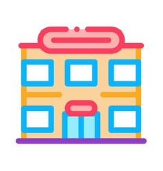 supermarket icon outline vector image