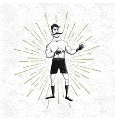 Symbol of vintage boxer vector