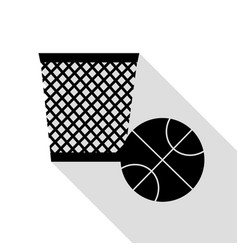 trash sign black icon with flat vector image