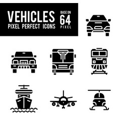 vehicle and transport solid icon pixel perfect vector image