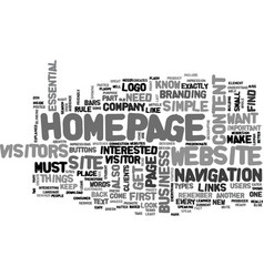 what your website s homepage needs to have text vector image