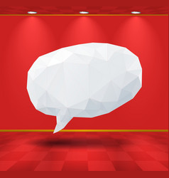 White geometric speech bubble in the room vector image