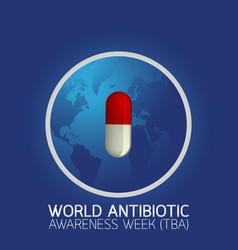 World antibiotic awareness week tba icon logo vector