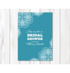 Bridal shower or wedding invitation card template vector image vector image