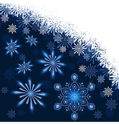 Christmas dark blue background vector image vector image