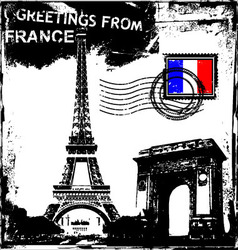 greetings from france vector image vector image