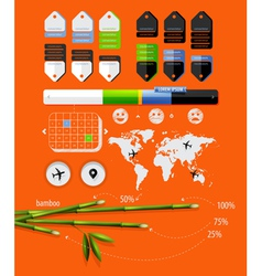 infographics with bamboo shoots vector image vector image