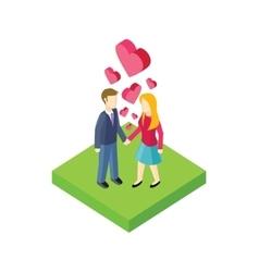 Couple Walk Design Flat vector image