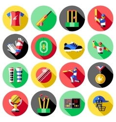 Cricket Icon Set vector image