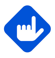 direction hand sign vector image