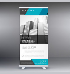 modern roll up banner design template vector image
