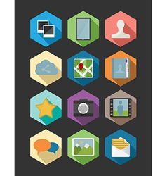 Website and app design flat icons set vector image