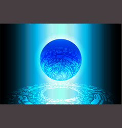 blue world future technology background vector image vector image