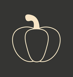 flat in black and white mobile application pumpkin vector image vector image