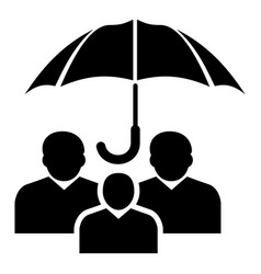 people protection icon simple black style vector image