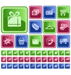 Shopping buttons vector image