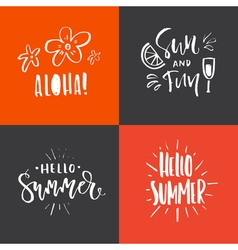 Summer Handdrawn Lettering vector image vector image