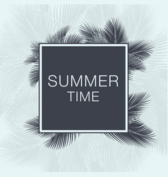 summer time lettering text vector image