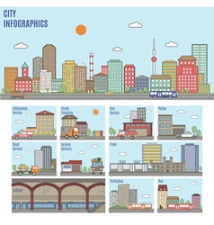 City Transport Infographics vector image