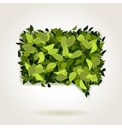 green bubble speech vector image vector image