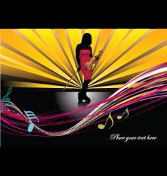 music brochure vector image vector image