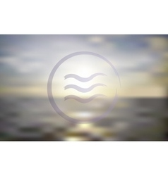 Ocean sunset Blur background vector image