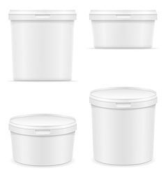 plastic container for ice cream or dessert 05 vector image vector image