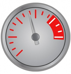 speed gage vector image vector image
