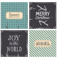 Vintage Style Christmas Greeting Cards Collection vector image