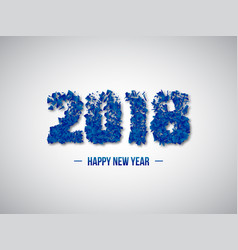 2018 abstract numeric new year concept vector image