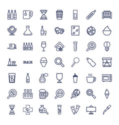 49 glass icons vector