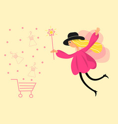 a fairy girl flat style make online vector image