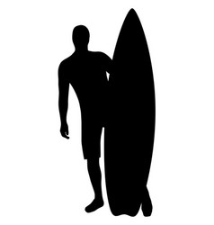 a male surfer with his surfboard vector image