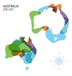Abstract color map australia vector