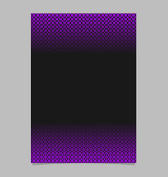 abstract halftone pattern poster template - page vector image