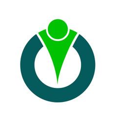 Abstract human character logo concept vector