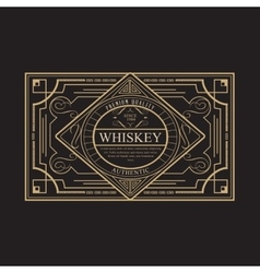 antique frame vintage border whiskey label retro vector image