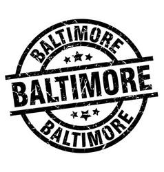 Baltimore black round grunge stamp vector