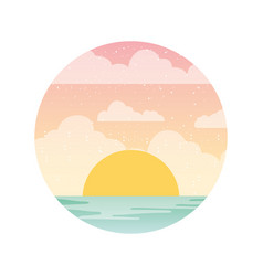 beautifu seascape summer icon vector image
