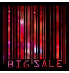 big sale bar code vector image