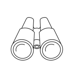 Binoculars of icon vector