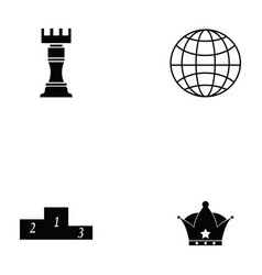 Chess icon set vector