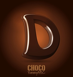 Chocolate dark 3d typeset vector image